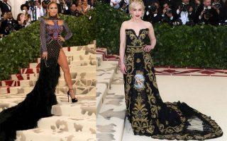 Η Jennifer Lopez με Balmain και η Emilia Clarke με δημιουργία Dolce and Gabbana.
