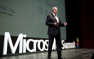 Ο Τόμας Χέντρικ Ιλβες μιλάει στο διεθνές συνέδριο τεχνολογίας που διοργάνωσε η Microsoft στην Εθνική Λυρική Σκηνή του ΚΠΣΙΝ στο Φάληρο.