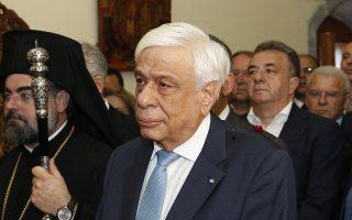 Ο Πρόεδρος της Δημοκρατίας, Προκόπης Παυλόπουλος παρακολουθεί τη Δοξολογία, στην Ιερά Μονή Παναγίας Κρουσταλλένιας, την Κυριακή 27 Μαΐου 2018. Παρουσία του προέδρου της Δημοκρατίας, πραγματοποιήθηκαν οι επετειακές εκδηλώσεις για τα 151 χρόνια από την Ιστορική Μάχη του Λασιθίου, στην Ιερά Μονή Παναγίας Κρουσταλλένιας Οροπεδίου Λασιθίου. Στις εκδηλώσεις παρέστη και ο υπουργός Δικαιοσύνης Σταύρος Κοντονής, ως εκπρόσωπος της κυβέρνησης.  ΑΠΕ-ΜΠΕ/ ΑΠΕ-ΜΠΕ/ ΝΙΚΟΣ ΧΑΛΚΙΑΔΑΚΗΣ