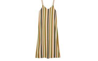 Ριγέ μάξι φόρεμα από κρεπ ύφασμα €15,99