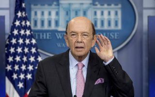 Commerce Secretary Wilbur Ross takes a question as he speaks to the media about a new tariff on Canadian lumber during the daily press briefing at the White House in Washington, Tuesday, April 25, 2017. (AP Photo/Andrew Harnik)