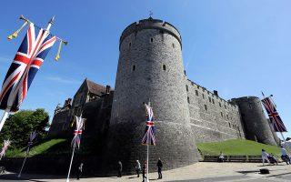 Σημερινή φωτογραφία από τις προετοιμασίες στο Κάστρο του Ουίνσδορ