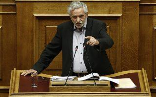 Ο βουλευτής του ΣΥΡΙΖΑ Θεόδωρος Δρίτσας μιλάει από το βήμα κατά τη διάρκεια συζήτησης και απόφασης επί πορίσματος Προανακριτικής της Novartis, στην Βουλή, Αθήνα Παρασκευή 18 Μαΐου 2018.  ΑΠΕ-ΜΠΕ/ΑΠΕ-ΜΠΕ/ΓΙΑΝΝΗΣ ΚΟΛΕΣΙΔΗΣ