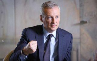 «Ο κοινός προϋπολογισμός είναι εκ των ων ουκ άνευ για τη Γαλλία. Πρέπει να υπάρχει κάτι που να σταθεροποιεί τα κράτη-μέλη της Ευρωζώνης έναντι ενός οικονομικού σοκ... Με το να υπερασπίζεται κανείς σήμερα το status quo τροφοδοτεί τον λαϊκισμό», τόνισε ο Γάλλος υπουργός Οικονομικών Μπρινό Λε Μερ.