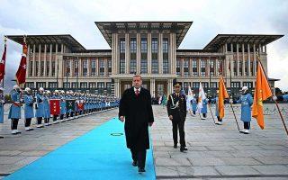 Ο επανεκλεγείς πρόεδρος της Τουρκίας σχεδιάζει να εορτάσει τα 100 χρόνια από την ίδρυση της τουρκικής δημοκρατίας με νέα έργα υποδομών, όπως ένα αεροδρόμιο και μια διώρυγα που θα ενώνει τη Μαύρη Θάλασσα με τη Θάλασσα του Μαρμαρά, προϋπολογισμού 13 δισ. δολαρίων.