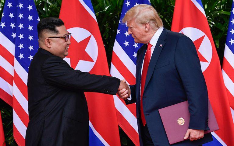 Τραμπ: Η σύνοδος κορυφής με τον Κιμ Γιονγκ Ουν συνέβαλε να αποφευχθεί μια «πυρηνική καταστροφή»