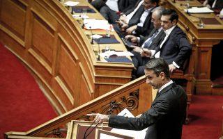«Θα τα πούμε την Παρασκευή στη Βουλή...», είπε ο πρόεδρος της Ν.Δ. Κυρ. Μητσοτάκης στον πρωθυπουργό Αλ. Τσίπρα κατά τη χθεσινή τηλεφωνική επικοινωνία τους.