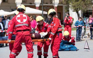 Ασκηση διάσωσης του Ελληνικού Ερυθρού Σταυρού. Η σημερινή διοίκηση έχει δεσμευθεί ότι μετά τις εκλογές θα αλλάξει το καταστατικό και θα προκηρύξει νέες εκλογές τον Οκτώβριο του 2018.
