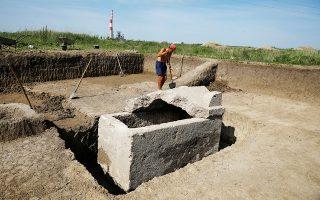 Σαρκοφάγος της ρωμαϊκής εποχής στο Βιμινάκιο, το σημερινό Κόστολατς.