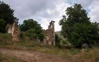 Τα ερείπια του Εμφυλίου στο Πράσινο.