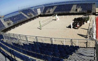 Oι εγκαταστάσεις του μπιτς βόλεϊ στην Ταραγόνα. Οι Ισπανοί έχουν αξιοποιήσει την ολυμπιακή κληρονομιά του 1992 στο έπακρον.