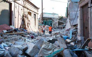 (Φωτογραφία αρχείου) Στις 12 Ιουνίου του 2017, ο σεισμός των 6,3 βαθμών της κλίμακας Ρίχτερ κατέστρεψε τη Βρίσα της Λέσβου. Από τα 42 εκατ. που έχουν εξασφαλιστεί, έχει απορροφηθεί μόλις μισό εκατομμύριο.