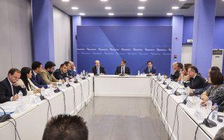 Από το συντονιστικό των «γαλάζιων» τομεαρχών, ο πρόεδρος της Ν.Δ. Κυρ. Μητσοτάκης εξαπέλυσε σφοδρή επίθεση στην κυβέρνηση και για την οικονομία.