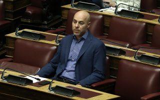 Ο βουλευτής του Ποταμιού, Γιώργος Αμυράς, παρίσταται στη συζήτηση επί της πρότασης δυσπιστίας της Νέας Δημοκρατίας κατά της Κυβέρνησης, στην Ολομέλεια της Βουλής, Αθήνα, Σάββατο 16 Ιουνίου 2018. ΑΠΕ-ΜΠΕ/ ΑΠΕ-ΜΠΕ/ ΣΥΜΕΛΑ ΠΑΝΤΖΑΡΤΖΗ