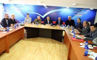 Ο πρόεδρος των ΑΝΕΛ και ΥΕΘΑ Πάνος Καμμένος (Κ) προεδρεύει στη σημερινή κοινή συνεδρίαση Κοινοβουλευτικής Ομάδας και Εκτελεστικής Επιτροπής των Ανεξάρτητων Ελλήνων, Δευτέρα 29 ιανουαρίου 2018. ΑΠΕ-ΜΠΕ/ΑΠΕ-ΜΠΕ/Αλέξανδρος Μπελτές