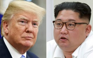 FILE- This combination of file photos show U.S. President Donald Trump, left, in the Oval Office of the White House in Washington on May 16, 2018, and North Korean leader Kim Jong Un during a meeting of the 7th central military commission at an undisclosed place in North Korea, in the photo provided on May 18, 2018. There will be a lot of spin going on when Trump emerges from his summit in Singapore with Kim Jong Un on Tuesday, June 12, 2018. (AP Photo/Evan Vucci, Korean Central News Agency/Korea News Service via AP, File)