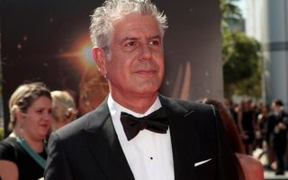 FILE PHOTO: Chef and television personality Anthony Bourdain arrives at the 65th Primetime Creative Arts Emmy Awards in Los Angeles, California, U.S., September 15, 2013. REUTERS/Jonathan Alcorn/File Photo