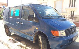 Το συγκεκριμένο βαν κατασχέθηκε πρόσφατα έπειτα από επιχείρηση της αστυνομίας στη Θράκη. Οχήματα αυτού του τύπου χρησιμοποιούνται συχνά από διακινητές στην Εγνατία Οδό.