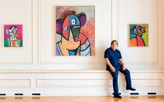 Στην έκθεση παρουσιάζεται για πρώτη φορά μια ομάδα αυτοπροσωπογραφιών του καλλιτέχνη που δημιουργήθηκαν πρόσφατα στο Παρίσι.