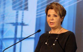 H υπουργός Διοικητικής Ανασυγκρότησης Όλγα Γεροβασίλη κατά την ομιλία της  στο φόρουμ Ψηφιακής Οικονομίας που διοργανώνει ο Σύνδεσμος Επιχειρήσεων Πληροφορικής (ΣΕΠΕ), Δευτέρα 7 Μαΐου 2018. ΑΠΕ-ΜΠΕ/ΑΠΕ-ΜΠΕ/Αλέξανδρος Μπελτές