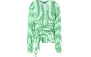Kρουαζέ πράσινο πουκάμισο με ριγέ μοτίβο €70,00