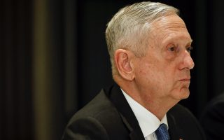 U.S. Defense Secretary Jim Mattis attends a bilateral meeting with Vietnam's Defense Minister Ngo Xuan Lich at the International Institute for Strategic Studies (IISS) Shangri-la Dialogue, an annual defense and security forum in Asia, in Singapore, Friday, June 1, 2018. (AP Photo/Yong Teck Lim)