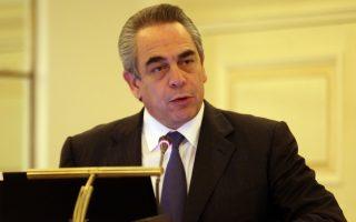 Ο πρόεδρος του ΕΒΕΑ  Κωνσταντίνος Μίχαλος κατά την ομιλία του στη σημερινή εκδήλωση: