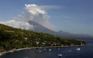 Εικόνες από την έκρηξη του ηφαιστείου στο Μπαλί