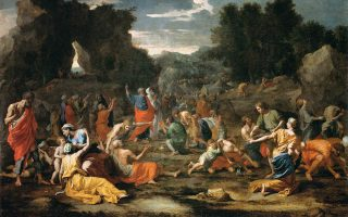 Οι Εβραίοι συγκεντρώνουν το «Μάννα εξ ουρανού». Εργο του Νικολά Πουσέν, φιλοτεχνημένο το 1637.