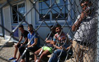 Μετανάστες απο το Πακιστάν κρατούνται στο Κέντρο Υποδοχής και Ταυτοποίησης στο Φυλάκιο στον Εβρο, αφού πέρασαν παράνομα τον ποταμό Εβρο και τα Ελληνοτουρκικά σύνορα, Παρασκευή 11 Μαίου 2018. Σε αντίθεση με τον Απρίλιο όπου οι ροές ήταν ιδιαίτερα αυξημένες (3627 μετανάστες) τον Μάιο παρατηρείται μία μείωση των αφίξεων (808). ΑΠΕ-ΜΠΕ/ΑΠΕ-ΜΠΕ/ΟΡΕΣΤΗΣ ΠΑΝΑΓΙΩΤΟΥ