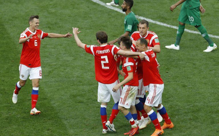 Αγριεμένη η Ρωσία 5-0 τη Σαουδική Αραβία
