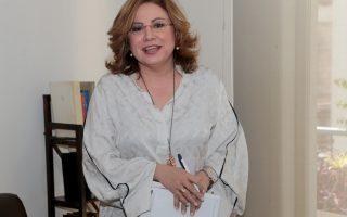 Η εκπρόσωπος τύπου της Νέας Δημοκρατίας  Μαρία Σπυράκη στα γραφεία της Ενωσης Ανταποκριτών Ξένου Τύπου   , Πέμπτη 12 Απριλίου 2018. Τα γραφεία της Ενωσης Ανταποκριτών Ξένου Τύπου επισκέφθηκε και παρεχώρησε συνέντευξη τύπου σε ξένους ανταποκριτές ο πρόεδρος της Νέας Δημοκρατίας Κυριάκος Μητσοτάκης. ΑΠΕ-ΜΠΕ/ΑΠΕ-ΜΠΕ/Παντελής Σαίτας