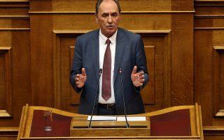 Ο υπουργός Ενέργειας Γιώργος Σταθάκης μιλάει από το βήμα της Βουλής στη συζήτηση για τη ψήφιση του νομοσχεδίου με τα προαπαιτούμενα για το κλείσιμο της 4ης αξιολόγησης, Τετάρτη 13 Ιουνίου 2018. ΑΠΕ-ΜΠΕ/ΑΠΕ-ΜΠΕ/ΟΡΕΣΤΗΣ ΠΑΝΑΓΙΩΤΟΥ