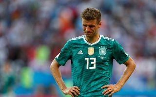 Soccer Football - World Cup - Group F - South Korea vs Germany - Kazan Arena, Kazan, Russia - June 27, 2018   Germany's Thomas Muller looks dejected after the match as they go out of the World Cup   REUTERS/John Sibley     TPX IMAGES OF THE DAY