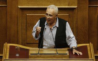 Ο βουλευτής των ΑΝΕΛ Κώστας Ζουράρις μιλάει από το βήμα της Βουλής στη συζήτηση για τη πρόταση δυσπιστίας που κατέθεσε ο πρόεδρος της ΝΔ Κυριάκος Μητσοτάκης στην αίθουσα της Ολομέλειας της Βουλής, Πέμπτη 14 Ιουνίου 2018. ΑΠΕ-ΜΠΕ/ΑΠΕ-ΜΠΕ/ΑΛΕΞΑΝΔΡΟΣ ΒΛΑΧΟΣ