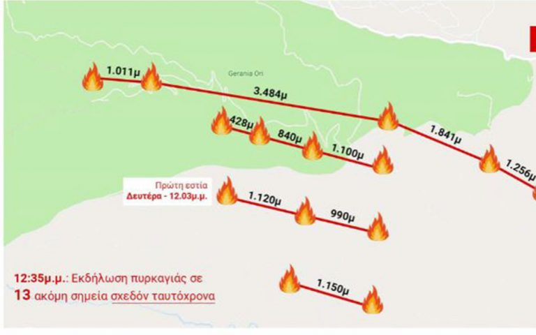 Ελληνικός Διαστημικός Οργανισμός: Καταγραφή εστιών πυρκαγιάς από διεθνείς δορυφορικές βάσεις δεδομένων