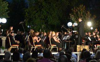 Οι μουσικοί από την Αυστρία έπαιξαν τελικά στην πλατεία της Μεσσήνης.