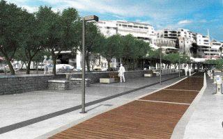 Θα κατασκευαστεί ελεύθερη ζώνη περιπάτου δίπλα στη θάλασσα και μετά θα δημιουργηθεί ζώνη πλάτους 6,5 μ. για τα τραπεζοκαθίσματα.