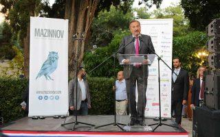 O Γάλλος πρέσβης Κριστόφ Σαντεπί, κατά την ομιλία του.