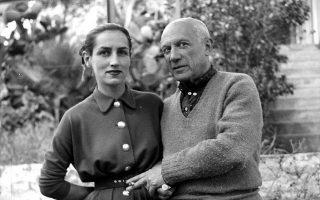 Η Φρανσουάζ Ζιλό και ο Πάμπλο Πικάσο στις αρχές της δεκαετίας του '50.
