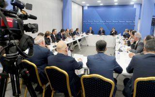 Ο πρόεδρος της Ν.Δ. Κυρ. Μητσοτάκης, κατά τη χθεσινή συνάντησή του με τη Συντονιστική Επιτροπή των Προέδρων των Δικηγορικών Συλλόγων, τάχθηκε κατά οποιασδήποτε προσπάθειας χειραγώγησης της Δικαιοσύνης.