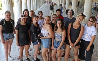 Με αφετηρία τη Στοά του Αττάλου στην Αρχαία Αγορά της Αθήνας, φοιτητές από την άλλη άκρη του Ατλαντικού γνώρισαν την αρχαία και τη σύγχρονη Ελλάδα.