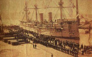 To «Nτμίτρι Ντονσκόι», το ρωσικό θωρακισμένο καταδρομικό, που βυθίστηκε σε ναυμαχία με ιαπωνικά πολεμικά πλοία.