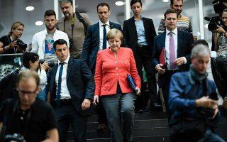 Η Αγκελα Μέρκελ φεύγει για τις διακοπές της ύστερα από την ετήσια συνέντευξη Τύπου στο Βερολίνο.