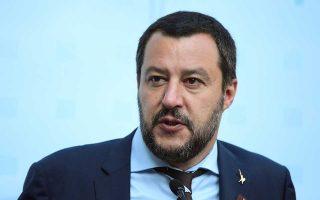 Ο Ιταλός υπουργός Εσωτερικών και αρχηγός της ξενοφοβικής Λέγκας, Ματέο Σαλβίνι, σε συνέντευξη Τύπου, κατά τη διάρκεια πρόσφατης συνόδου των Ευρωπαίων ομολόγων του, στο Ινσμπρουκ της Αυστρίας.