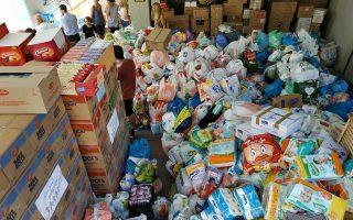 Τρόφιμα, φάρμακα, είδη πρώτης ανάγκης συγκεντρώθηκαν μετά την έκκληση του «Ολοι Μαζί Μπορούμε».