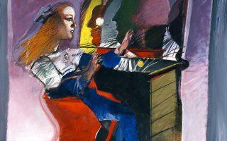 «Ο καθρέφτης», 1990. Ακρυλικό σε καμβά. Συλλογή Ιδρύματος Βασίλη και Ελίζας Γουλανδρή.