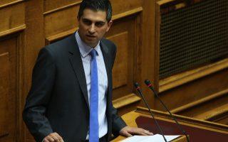 Ο βουλευτής της ΝΔ Χρήστος Δήμας μιλάει στην Ολομέλεια της Βουλής  στη συζήτηση και ψήφιση του νομοσχεδίου: