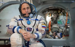 Expedition 53 backup crew member Anton Shkaplerov of Roscosmos waits to enter the Soyuz simulator as he and fellow backup crew members Shannon Walker and Scott Tingle of NASA participate in their Soyuz qualification exams, Wednesday, Aug. 30, 2017 at the Gagarin Cosmonaut Training Center (GCTC) in Star City, Russia. Photo Credit: (NASA/Bill Ingalls)