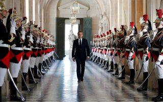 ΟΓάλλος πρόεδρος στις Βερσαλλίες την περασμένη Δευτέρα.